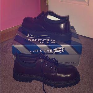 Men's Skechers Leather Shoes